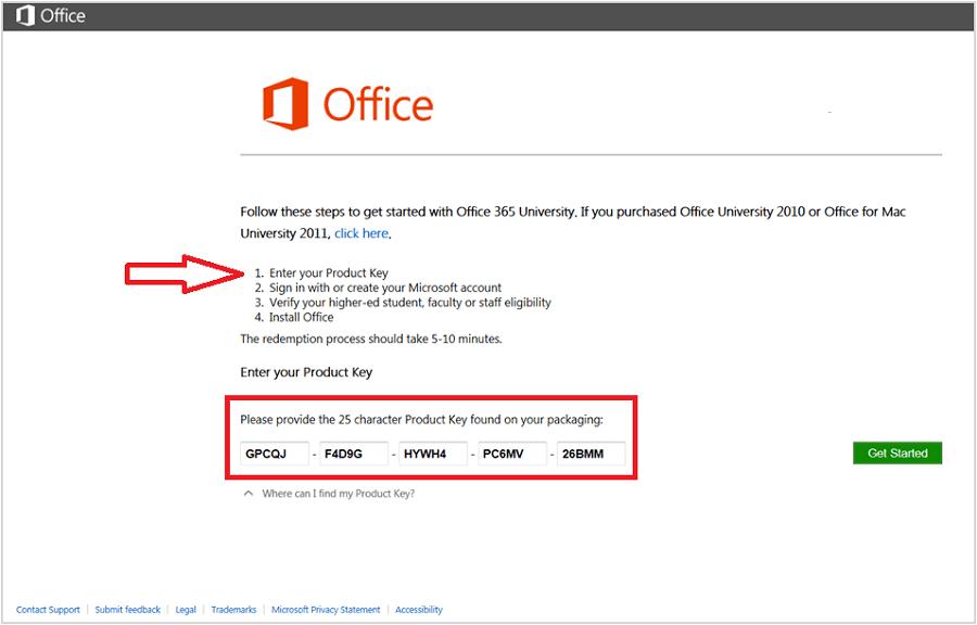 Microsoft Office 2016 Latest product key