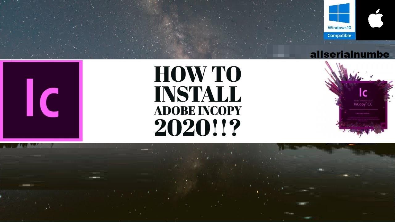 Adobe InCopy CC 2020 Crack